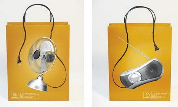 Mẫu in túi giấy đựng đồ dùng điện